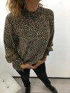 Świateczna bluzka beżowa w pantere M